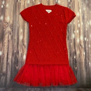 Justice red sweater dress